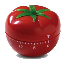 picture of a tomato-shaped kitchen timer