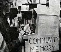 A Community Memory terminal (ca. 1970). Photo: Jason Scott