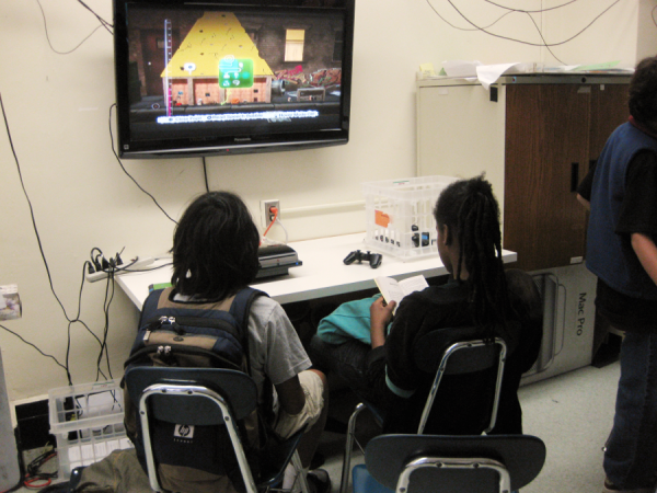 Students in the Downtown School's required game design course.