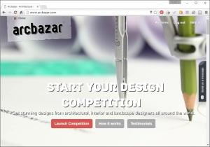 arcbazar screen shot home page