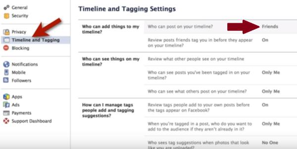facebook privacy settings as of 2015 screenshot